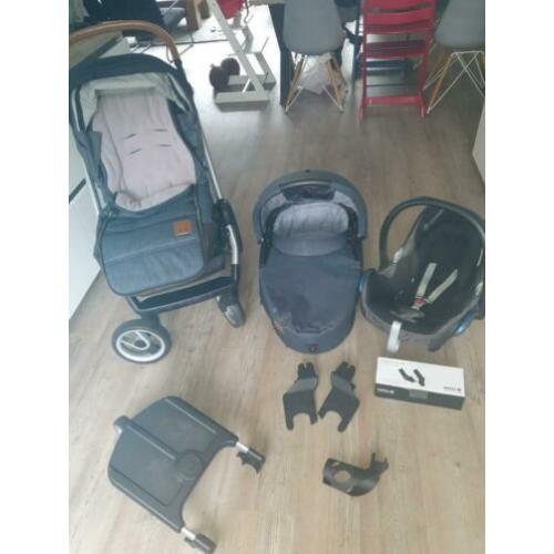 Mutsy evo Industrial denim Incl. maxi cosi isofix & adapters