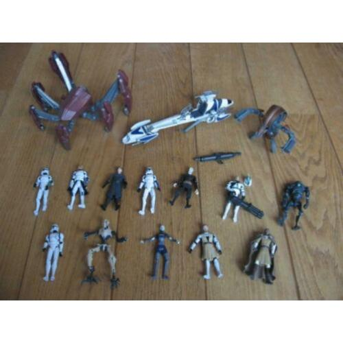 Partij Star Wars poppetje Crab Droid Speeder Bike Hasbro LFL