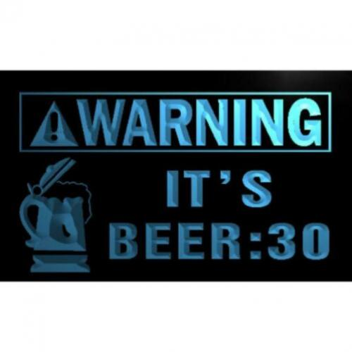Warning Beer : 30 Neon 3D LED Lamp Verlichting Bord Plaat