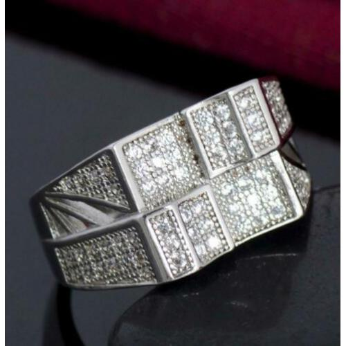 Zirkonen 925 sterling zilveren ring N 4