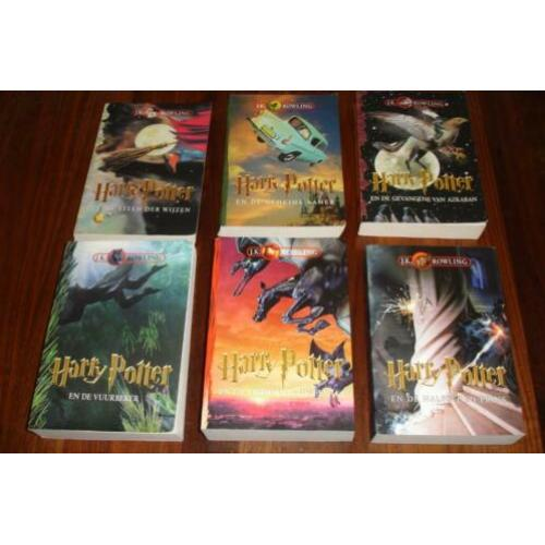 Harry potter boeken set deel 1,2,3,4,5,6 softcover!