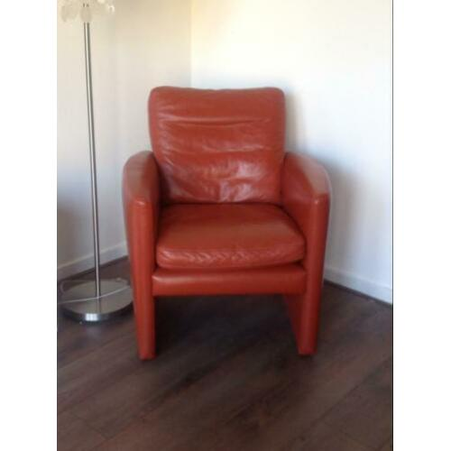 2x Fauteuil Touche oranje/rood