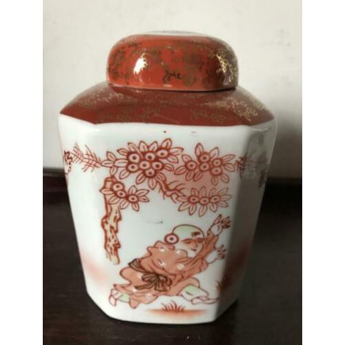 Chinees porselein theebus Chinese 13 cm thee pot